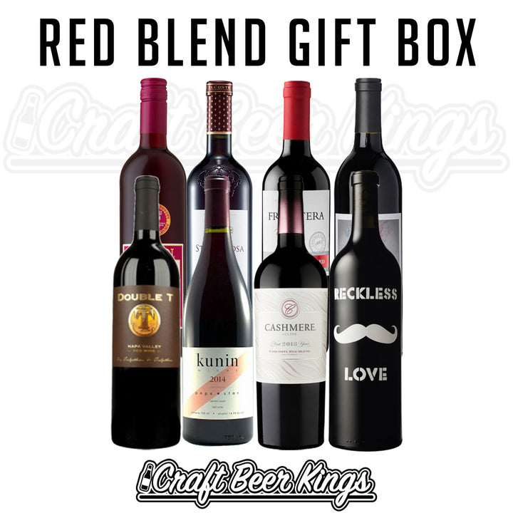 Red Blend Wine Gift Box - Free Shipping