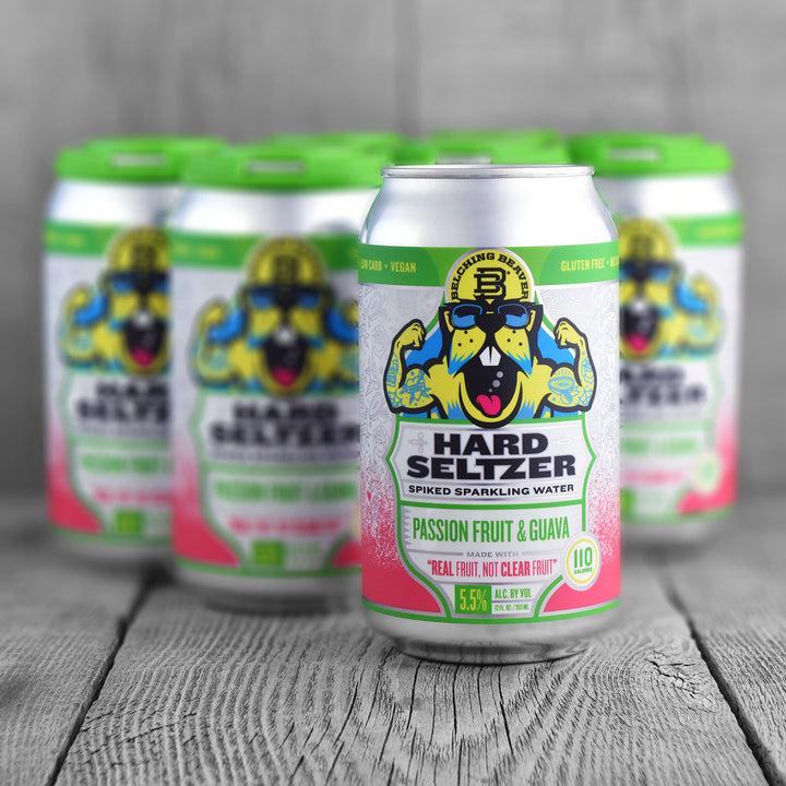Belching Beaver Hard Seltzer Passion Fruit & Guava