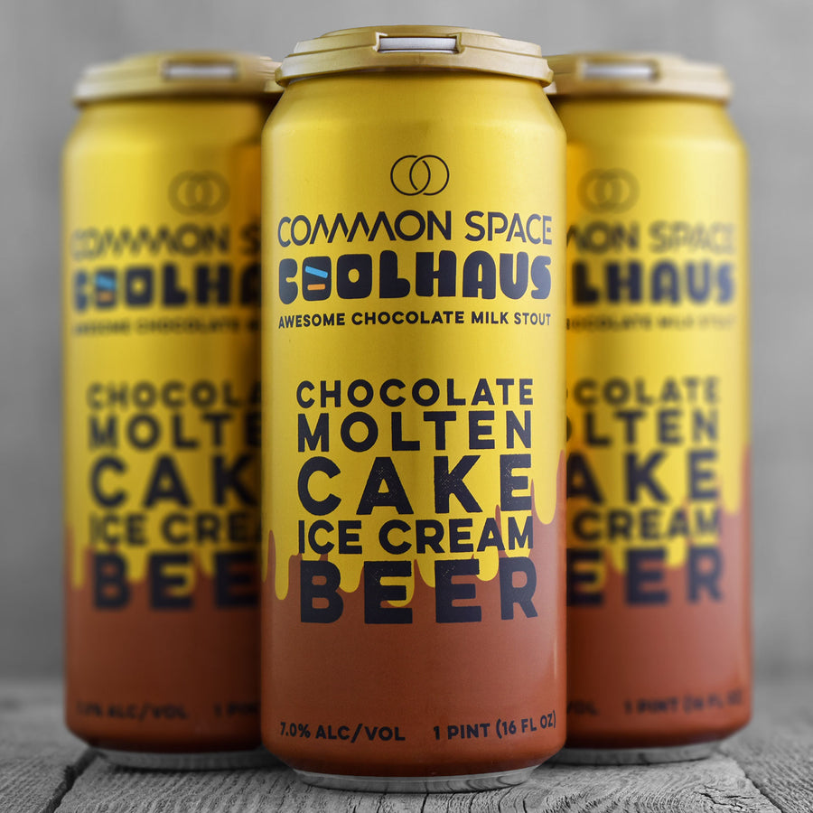 Common Space Chocolate Molten Cake Ice Cream Beer