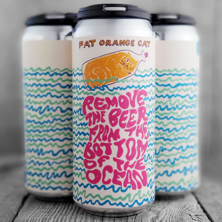 Fat Orange Cat Remove The Beer From The Bottom of The Ocean