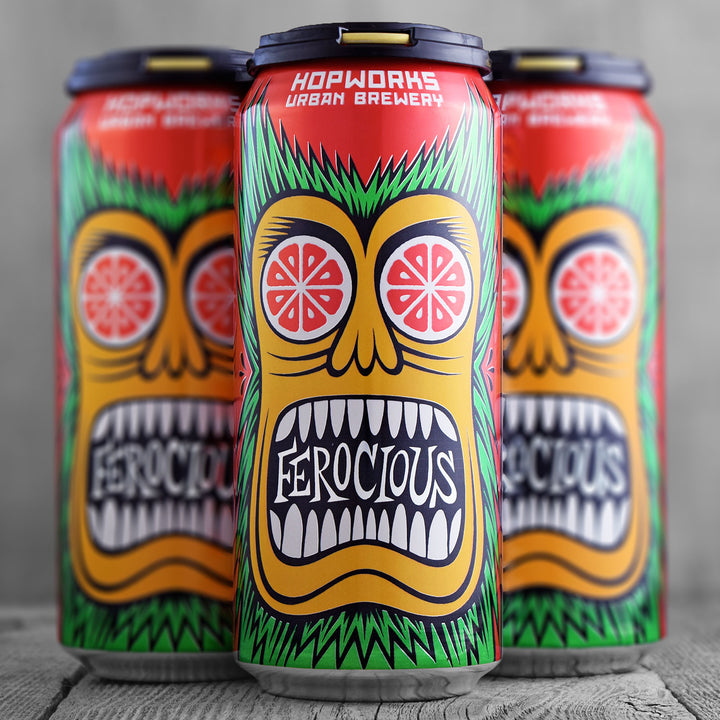 Hopworks Urban Brewery Ferocious Citrus Blood Orange IPA