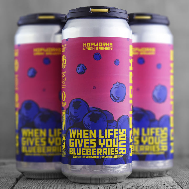 Hopworks Urban Brewery When Life Gives You Blueberries