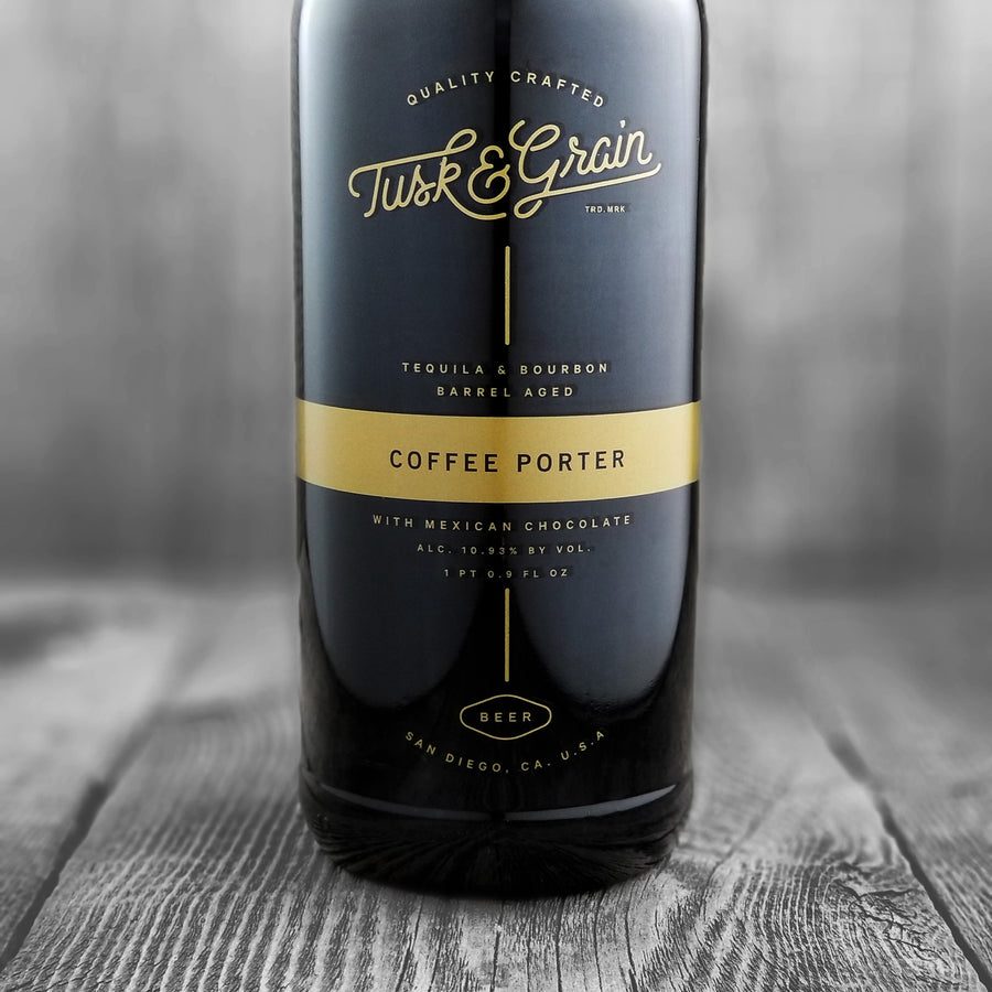 Tusk & Grain Tequila & Bourbon Aged Coffee Porter With Mexican Chocolate (Limit 1)