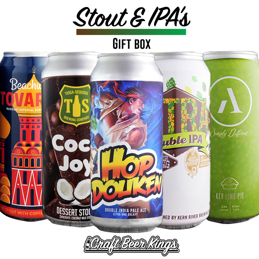 Stout and IPA Gift Box - Free Shipping
