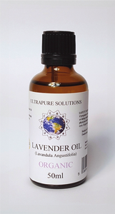 50ml Lavender Essential Oil Certified ORGANIC - 100% Pure With PIPETTE OR DROPPER - Ultrapure Solutions
