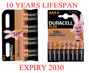 DURACELL Plus Power AA & AAA Alkaline Batteries DURALOCK - Expiry: 2030