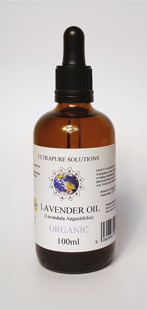 100ml Lavender Essential Oil Certified ORGANIC - 100% Pure With PIPETTE OR DROPPER - Ultrapure Solutions