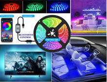 Load image into Gallery viewer, LED Strip Lights USB 1Meter 5050 RGB Color Light TV BLUETOOTH Control Lighting UK