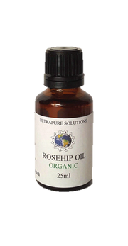 Organic Rosehip Oil Certified Pure - Cold Pressed 10ml, 25ml, 50ml, 100ml - Ultrapure Solutions
