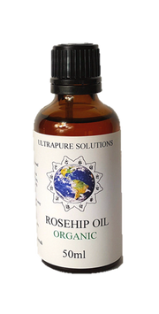 50ml Organic Rosehip Oil Certified Pure - Cold Pressed - Pipette Or Dropper Cap - Ultrapure Solutions