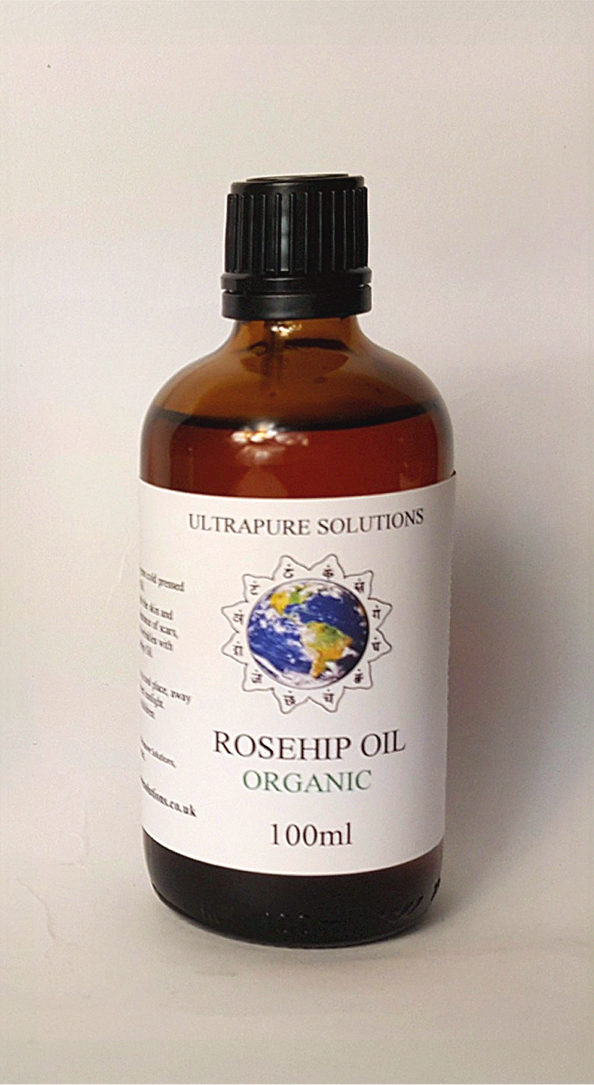 100ml Organic Rosehip Oil Certified Pure - Cold Pressed - Pipette Or Dropper Cap