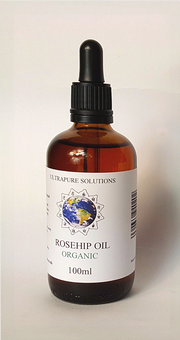 100ml Organic Rosehip Oil Certified Pure - Cold Pressed - Pipette Or Dropper Cap - Ultrapure Solutions