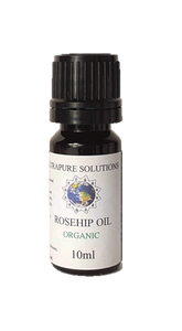 10ml Organic Rosehip Oil Certified Pure - Cold Pressed - Pipette Or Dropper Cap - Ultrapure Solutions