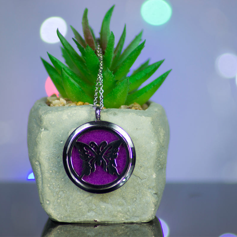 Aromatherapy Essential Oil Locket Diffuser Necklace