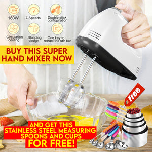 Hand Mixer with FREE Stainless Steel Measuring Cups
