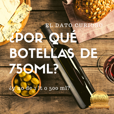 ¿Por qué botellas de 750ml y no de 1 lt?