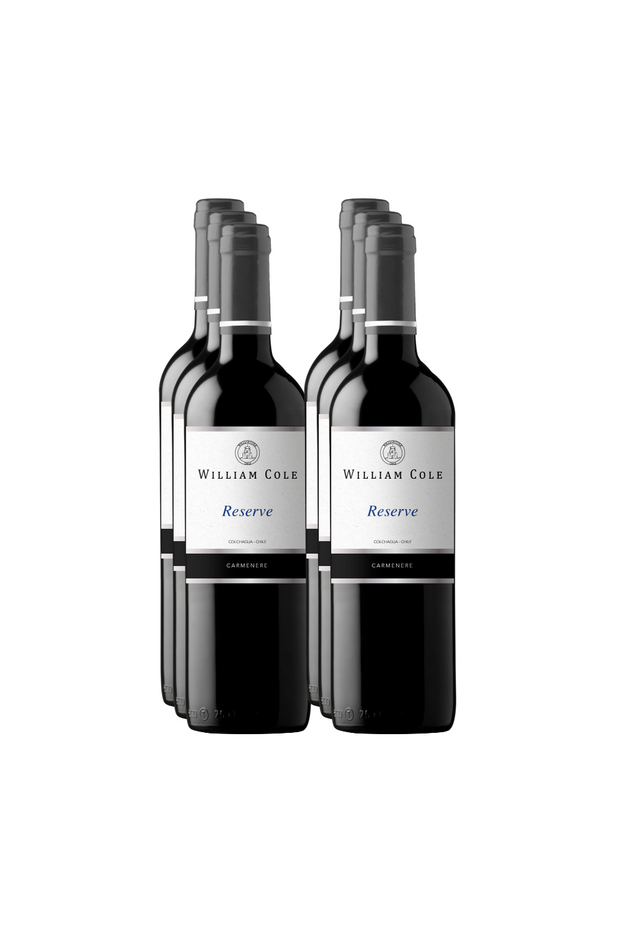 Carmenere reserva william cole chileanwines  6 botellas