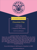 Organic lactation cookie mix ingredients label to help boost breast milk supply non-gmo ingredients