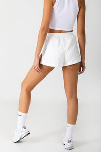 Ivory Running Shorts - LEELO ACTIVE