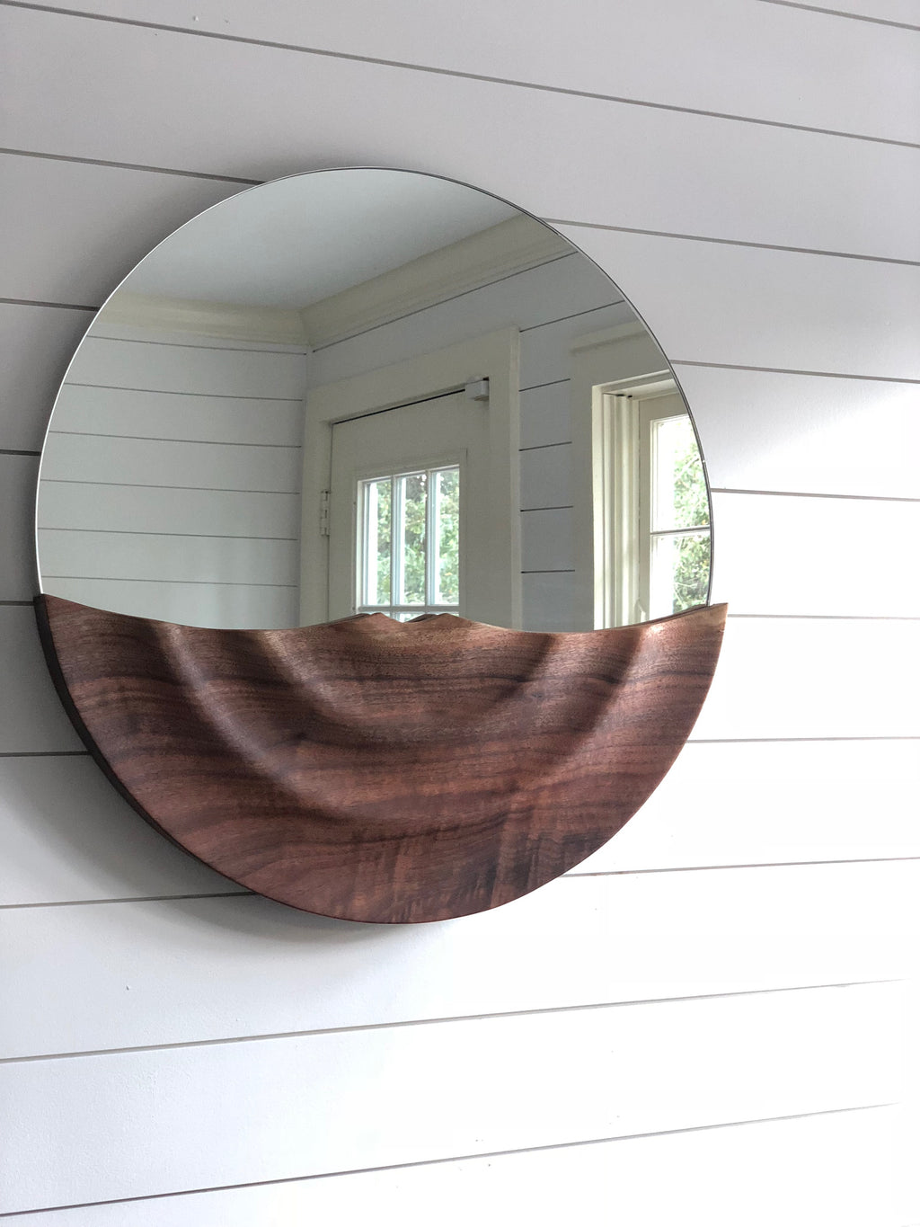 Live Edge Ripple Mirror