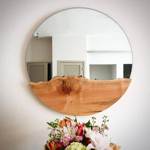 Live Edge Round Mirror Maple