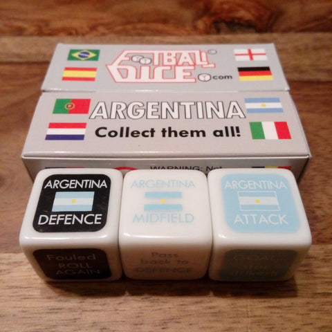 Argentina Football Dice the perfect football gift for boys and men.