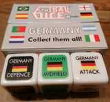 Germany football dice game play during world cup ideal gift