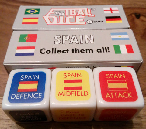 SPAIN - Football Dice™ | World Editionis