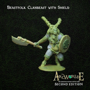 Beastfolk Clanbeast with Shield