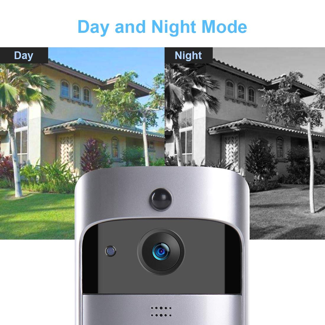 BENEVE Smart Wifi Video Ring Doorbell, 720P HD Security Camera with Free 8G  Storage, Real-Time Two-Way Talk/Video, Night Vision, PIR Motion Detection