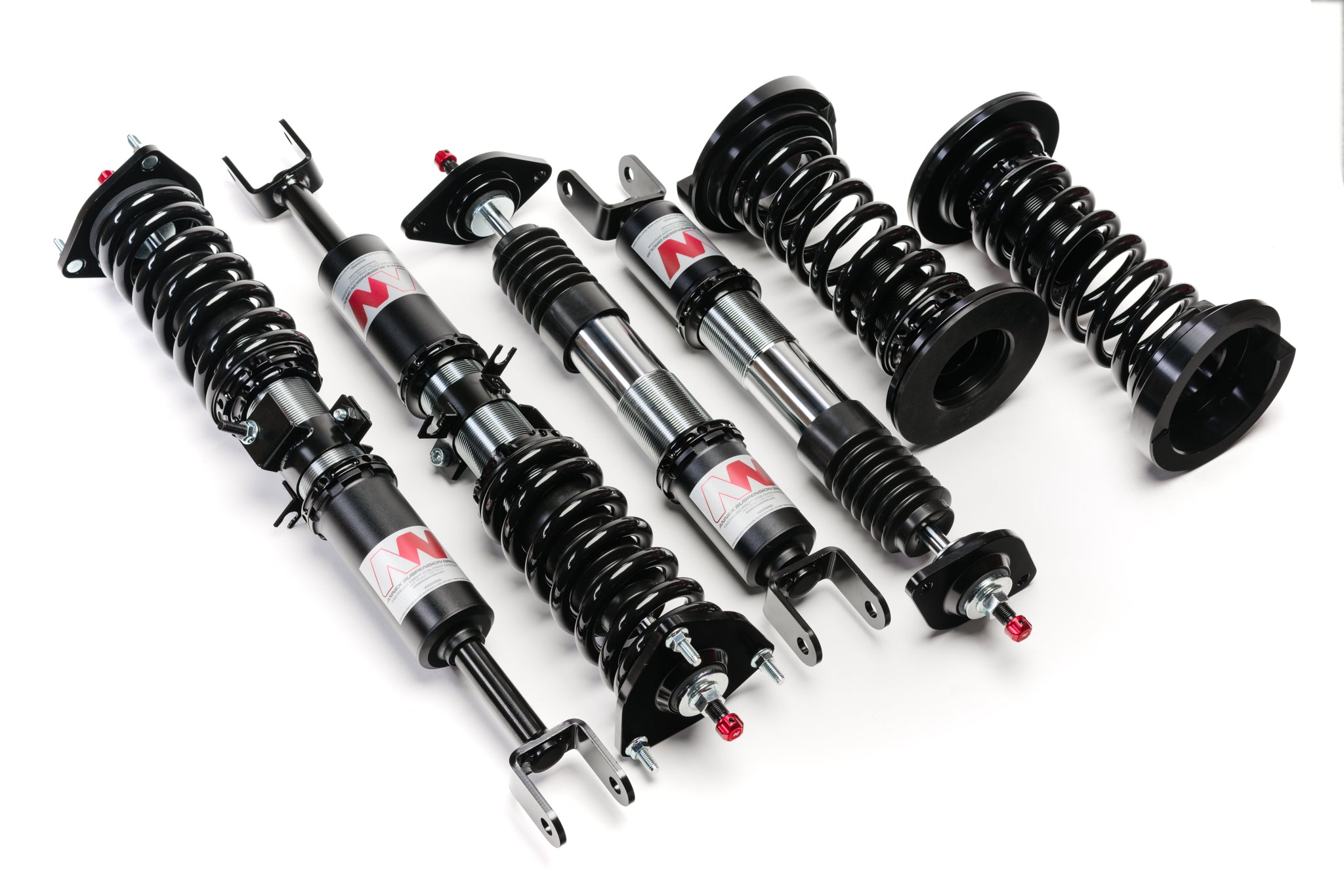 Infiniti 2003-2007 RWD Coupe G35 Performance Coilovers - Black and Red Suspension Setup - Fastroad Pro Coilovers by Annex Suspension Annex Suspension Fastroad Pro Coilovers Best Infiniti 2003-2007 G35 Coupe for Daily Driving (Street Driving and Track Comfort) 2003 2004 2005 2006 2007