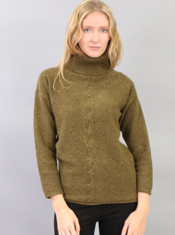 Button Detailed Turtleneck Tunic