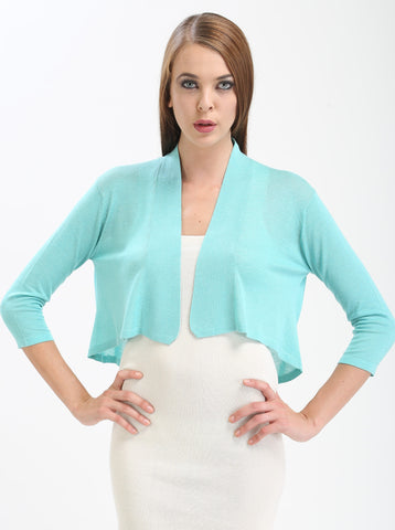 Split-Back Cropped Shrug