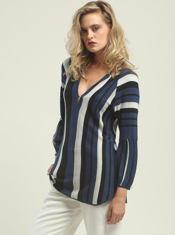 Multi-Color Stripe Tunic