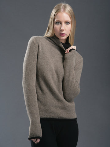 Double Layered Reversible Turtleneck