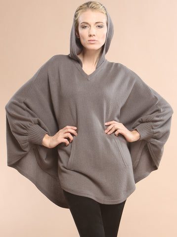 Kangaroo Pocket Hooded Poncho