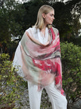 Hand Painted Tissue Fine Scarf - Abstract