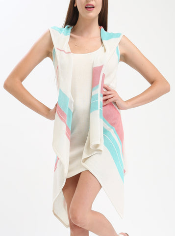 Striped Hooded Cover Up