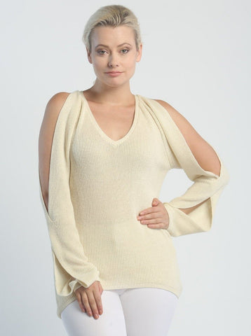 Open Sleeve V-Neck