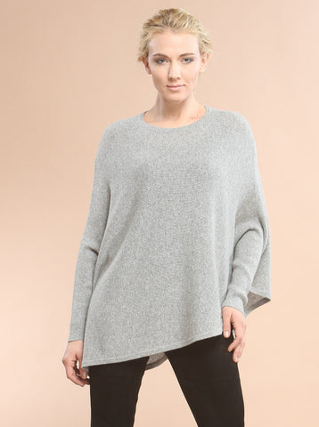 Asymmetrical Hem Easy Crewneck