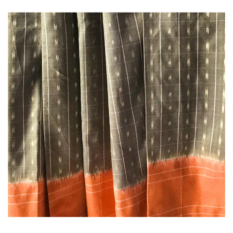 Natural Dye Ikat Saree - EARTHICA