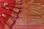 Red / Pink Handwoven Kota Silk Saree.