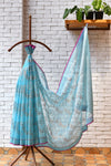 Pastel Blue  Handwoven Kota Silk Saree.