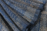 Indigo Blue Batik Ghicha Tusser Handwoven Saree with Blouse.