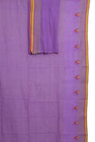 Purple handwoven pure cotton jamdani saree - EARTHICA