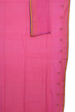Pink Handwoven pure cotton Jamdani saree - EARTHICA