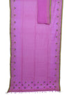 Lavendar Handwoven pure cotton Jamdani saree - EARTHICA