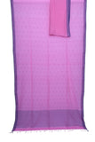 Baby pink handwoven pure cotton Jamdani saree - EARTHICA
