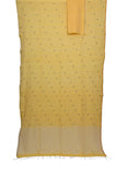 Yellow handwoven pure cotton Jamdani saree - EARTHICA