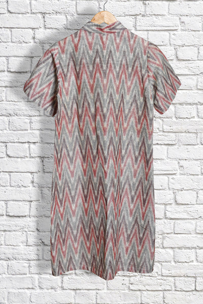 Ikat Natural Dyed Kurta